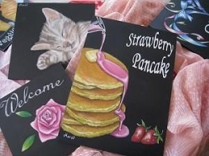 パンケーキ、猫作品